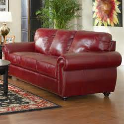 Red Leather Living Room