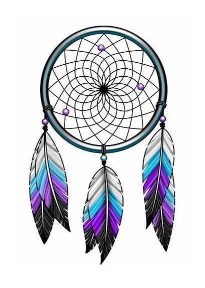 Catcher Dream Clipart Dreamcatcher Feather Tattoos Feathers