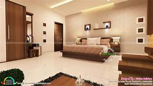 Master, Bedroom, And, Living, Room, Interior, -, Kerala, Home, Design, And, Floor, Plans