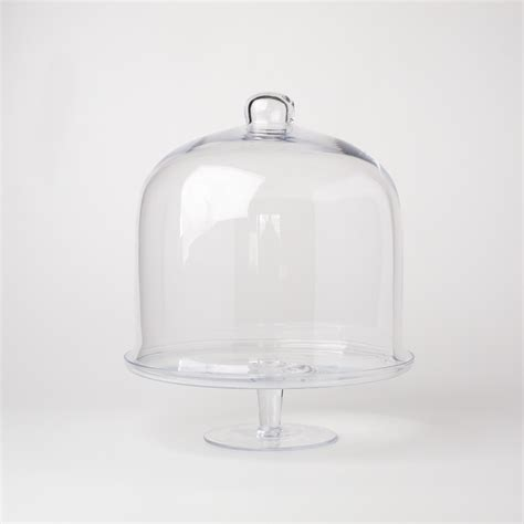 glass dome cake stand libbey  selene  piece cake