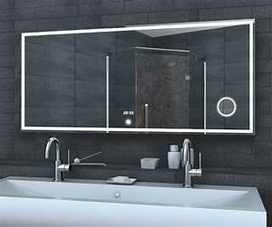 Badspiegel 80 X 60 : lichtspiegel uhr schminkspiegel touch schalter 140x60cm lmc1460a ~ Bigdaddyawards.com Haus und Dekorationen