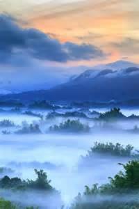 Sunrise Fog Mountain