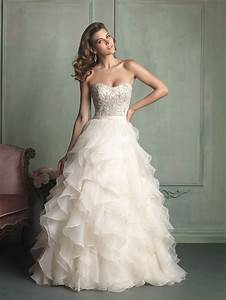 Allure bridals style 9110 for Wedding dress with ruffles on bottom
