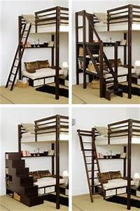 Echelle Lit Mezzanine : 1000 images about lit on pinterest lit mezzanine ~ Teatrodelosmanantiales.com Idées de Décoration