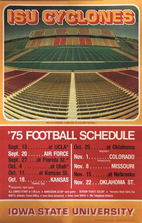 football schedule posters