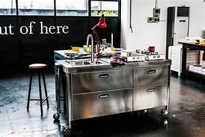 Kücheninsel Auf Rollen : k cheninsel in edelstahl edelstahlm bel edelstahlk chen edelstahlkamine blog ~ Whattoseeinmadrid.com Haus und Dekorationen
