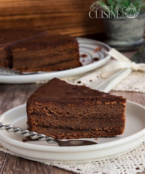 recette cuisine gateau sachertorte recette gateau autrichien au chocolat amour
