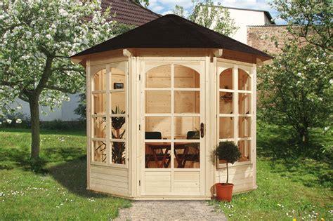 pavillon aus holz kaufen weka gartenlaube pavillon 234a natur 336x365cm 4 fenster bei edingershops de