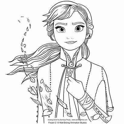 Frozen Anna Coloring Colorear Dibujos Colorare Elsa