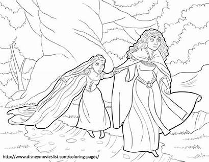 Coloring Rapunzel Pages Tangled Mother Gothel Tower
