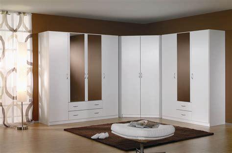 meuble d angle pour chambre armoire d 39 angle contemporaine coloris blanc noa armoire