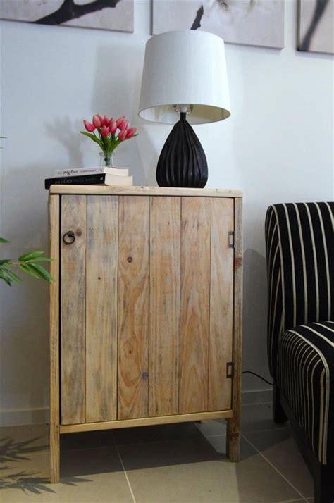 diy pallet living room cabinet side table wooden