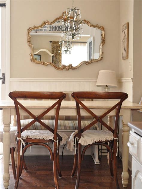 shabby chic dining room mirror shabby chic dining room photos hgtv