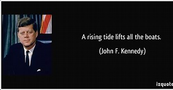 Image result for jfk boat rising tide