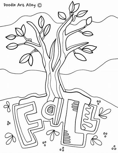 Coloring Pages Science Fall Doodles Lab Printables