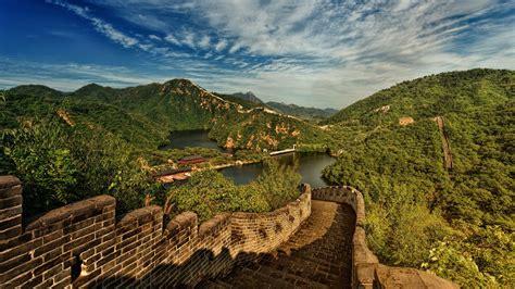 Download Wallpaper 1920x1080 Great Wall Of China Lake