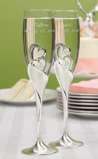 wedding toasting flutes personalized rhinestone hearts wedding toasting flutes engraved sparkling ebay