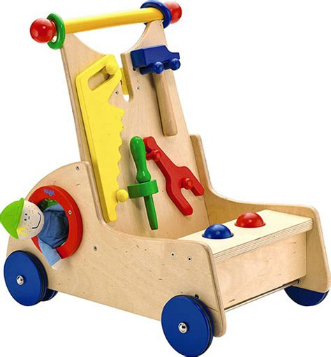 push toys walk walker toy along cart activity haba wooden learn tool fisher expensive beginnings bright little tools ages months