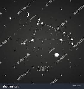 Astrology Sign Aries On Chalkboard Background Stock Vector ...