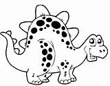 Coloring Pages Cute Dinosaur Dinosaurs Popular sketch template