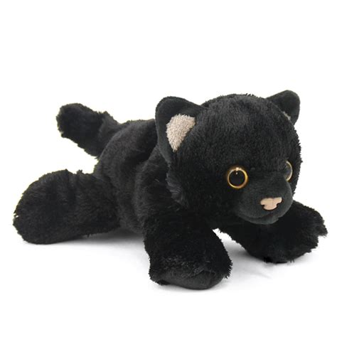 small black cat stuffed animal hug ems  wild republic