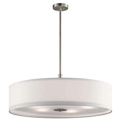 drum light pendant kichler lighting pendant light with drum shade 42196ni