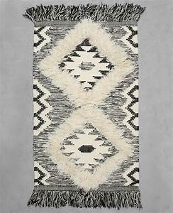 tapis coton tisse berbere ecru 955040765g08 pimkie With petit tapis berbere