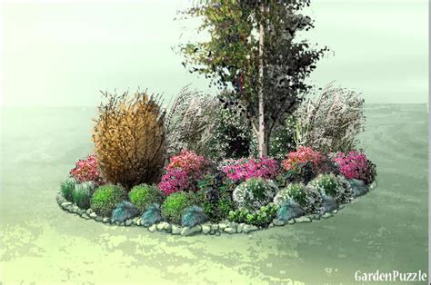 island bed gardenpuzzle garden planning tool