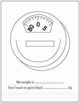 Coloring Pages Weight Scale Printable Weigh sketch template