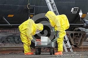 HAZMAT Team Checks Cart Stock Images - Image: 33225524