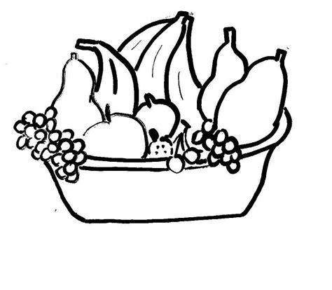 disegni da colorare frutta e verdura vaso con frutta da disegnare con cesto con frutta cesto