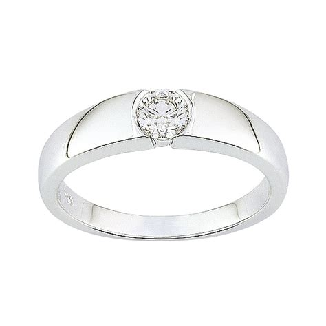 bague or blanc 750 176 176 176 solitaire diamant 0 30cts monture moderne bagues or 750 000