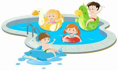 Pool Fun Having Vector Swimming Illustration Clipart