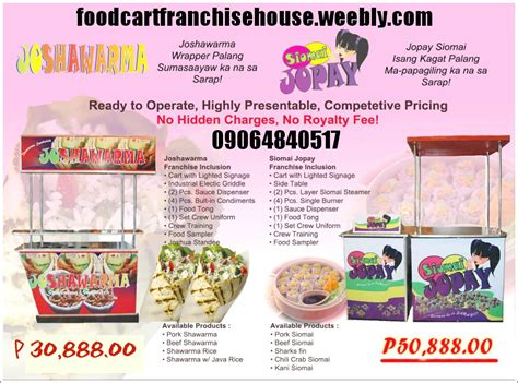 franchise cuisine siomai jopay franchise house