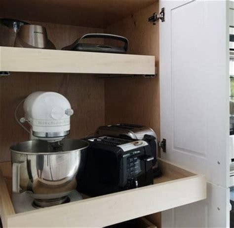 kitchen appliance storage 40 appliance storage ideas for smaller kitchens 2183