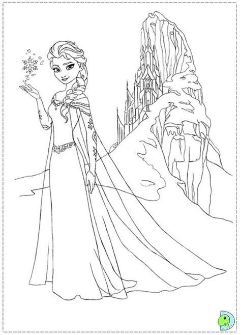 dibujos de las princesas de frozen  pintar colorear imagenes