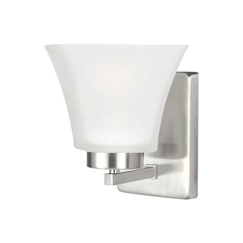 sea gull lighting bayfield  light brushed nickel wall