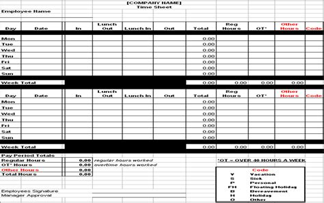 Hourly Employee Timesheet Template by Excel Timesheet Template Overtime Time Sheets Excel