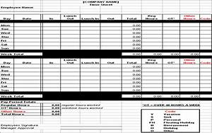 best photos of hourly timesheet template excel employee With hourly employee timesheet template