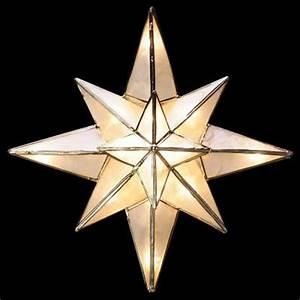 GE Clear Capiz Bethlehem Star Tree Topper-71401HD - The