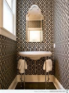 bathroom wallpaper designs black and white wallpaper in 15 bathrooms and powder rooms home design lover