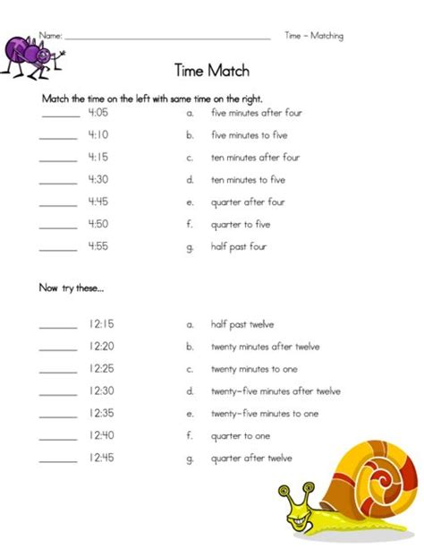 telling time worksheets enchanted learning free time to