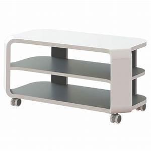 Meuble De Télé Conforama : meuble tv sur roulettes table tv en verre trendsetter ~ Teatrodelosmanantiales.com Idées de Décoration
