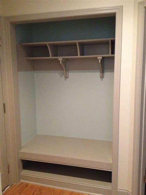 mini mudroom converted a closet entry from garage