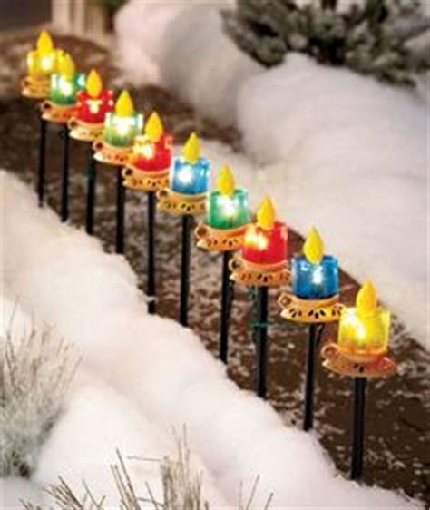 pathway christmas yard candles 8 pack westinghouse solar powered path lights snowflakes decor