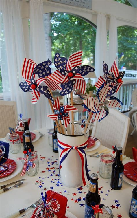 Decorating Ideas For July 4th by A Patriotic Celebration Table Setting
