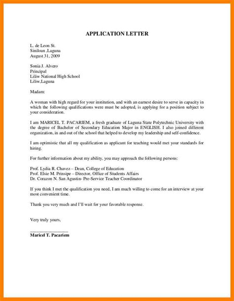 14740 application letter format gallery of sle of applicant letter