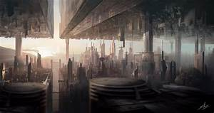 Wallpaper, Matte, Painting, Art, City, Urban, Futuristic, Sci