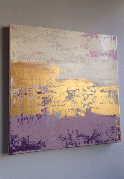 Purple and Gold Abstract Paintings