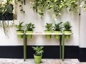 Pied De Menthe : pied de table outdoor pour l 39 ext rieur h 40 cm fixation tau vert menthe tiptoe ~ Melissatoandfro.com Idées de Décoration